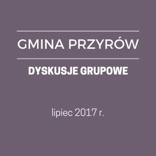 GM. PRZYRÓW - DYSKUSJE GRUPOWE